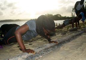 armhävning strand