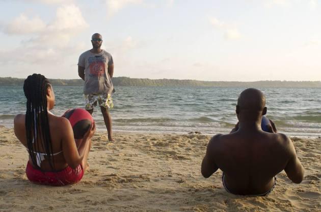 strand från bak